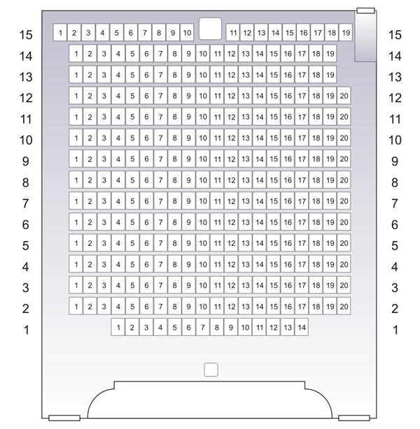 Схема зрительного зала Дома